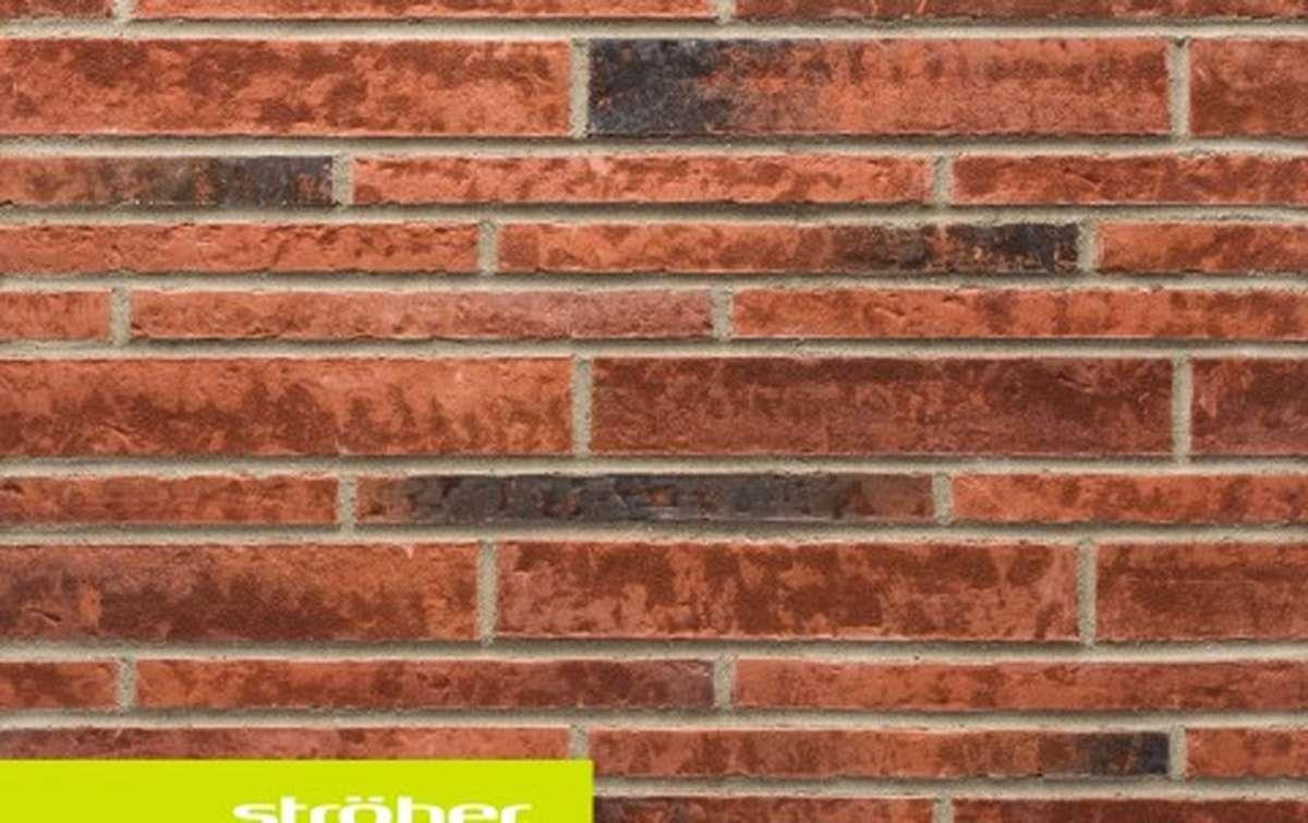 фасадная клинкерная плитка STROEHER eisenrost, размер  400x71x14