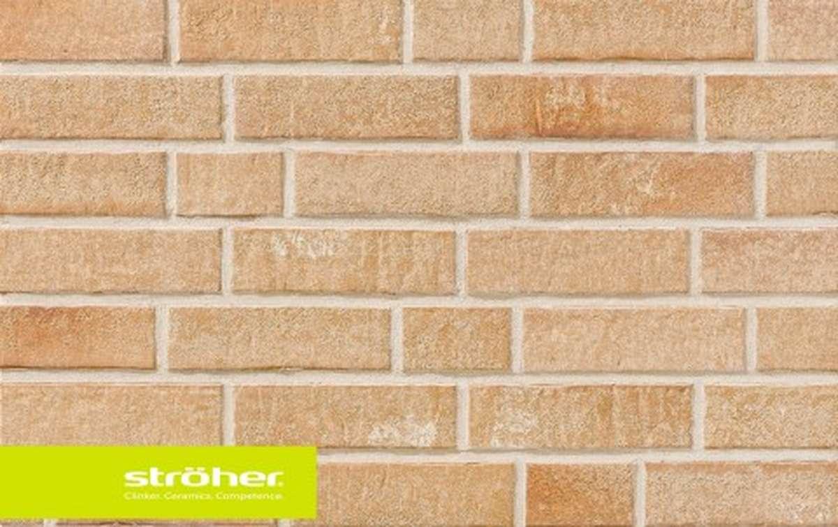 фасадная клинкерная плитка STROEHER bronzebruch, размер  240x71x14