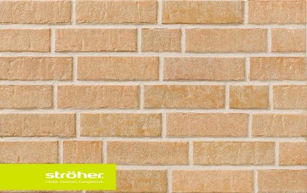 фасадная клинкерная плитка STROEHER sandschmelz, размер  240x71x14