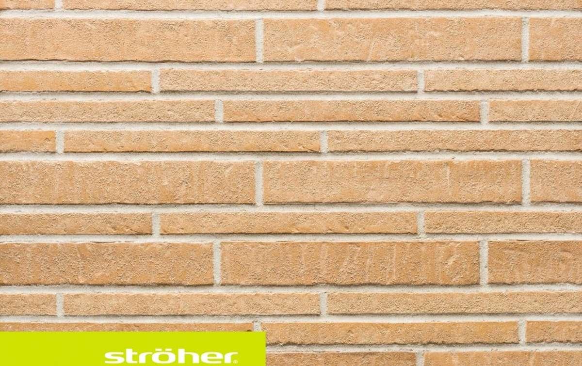 фасадная клинкерная плитка STROEHER sandschmelz, размер  400x71x14