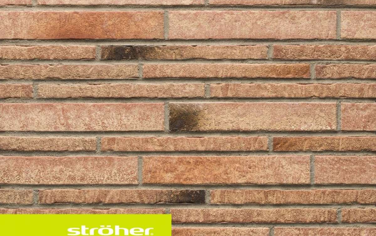 фасадная клинкерная плитка STROEHER backstein, размер  400x71x14