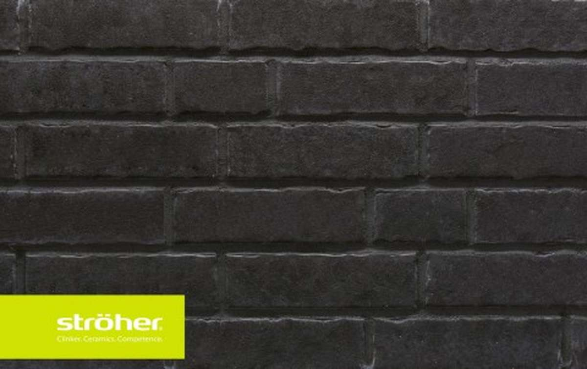 фасадная клинкерная плитка STROEHER onyxstaub, размер  240x71x14
