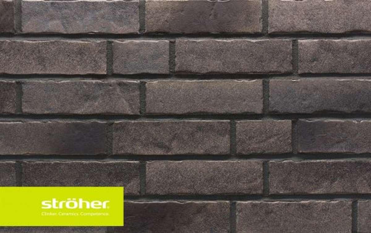 фасадная клинкерная плитка STROEHER sepiaquarz, размер  240x71x14