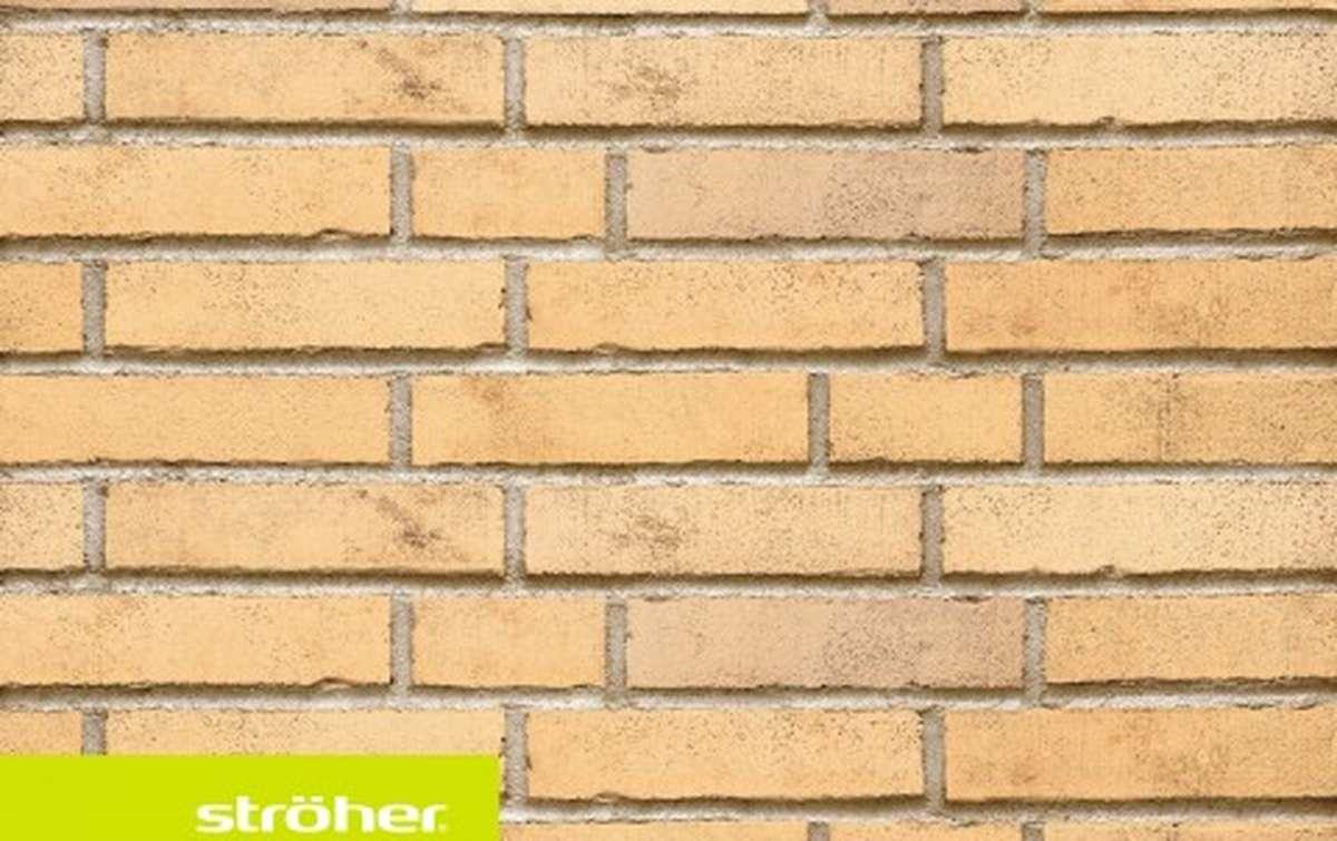фасадная клинкерная плитка STROEHER champagnersalz, размер  240x52x14
