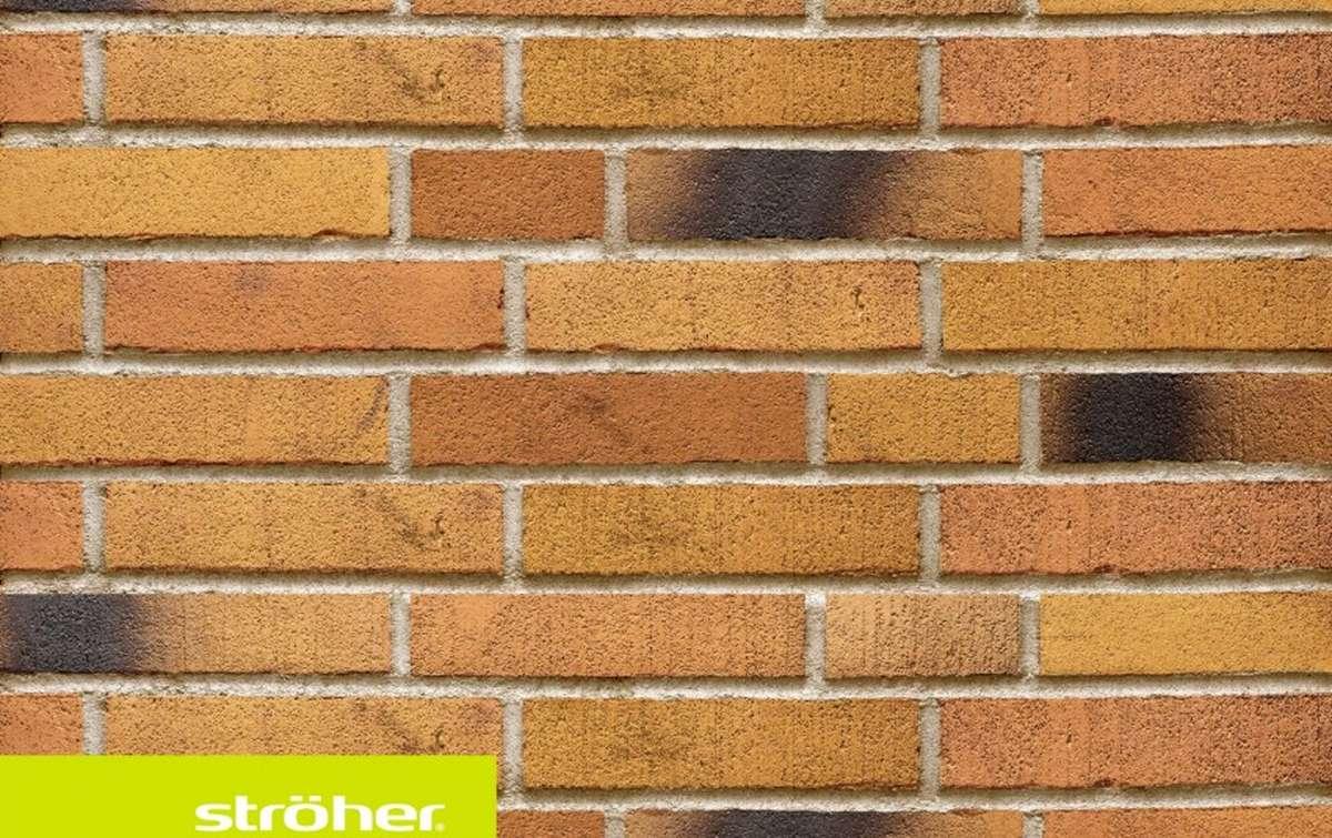 фасадная клинкерная плитка STROEHER ockererz, размер  240x52x14