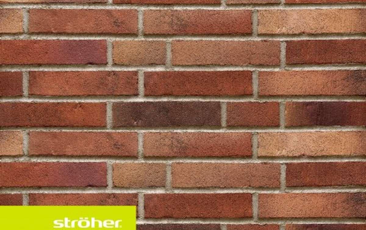 фасадная клинкерная плитка STROEHER rotrost, размер  240x52x14