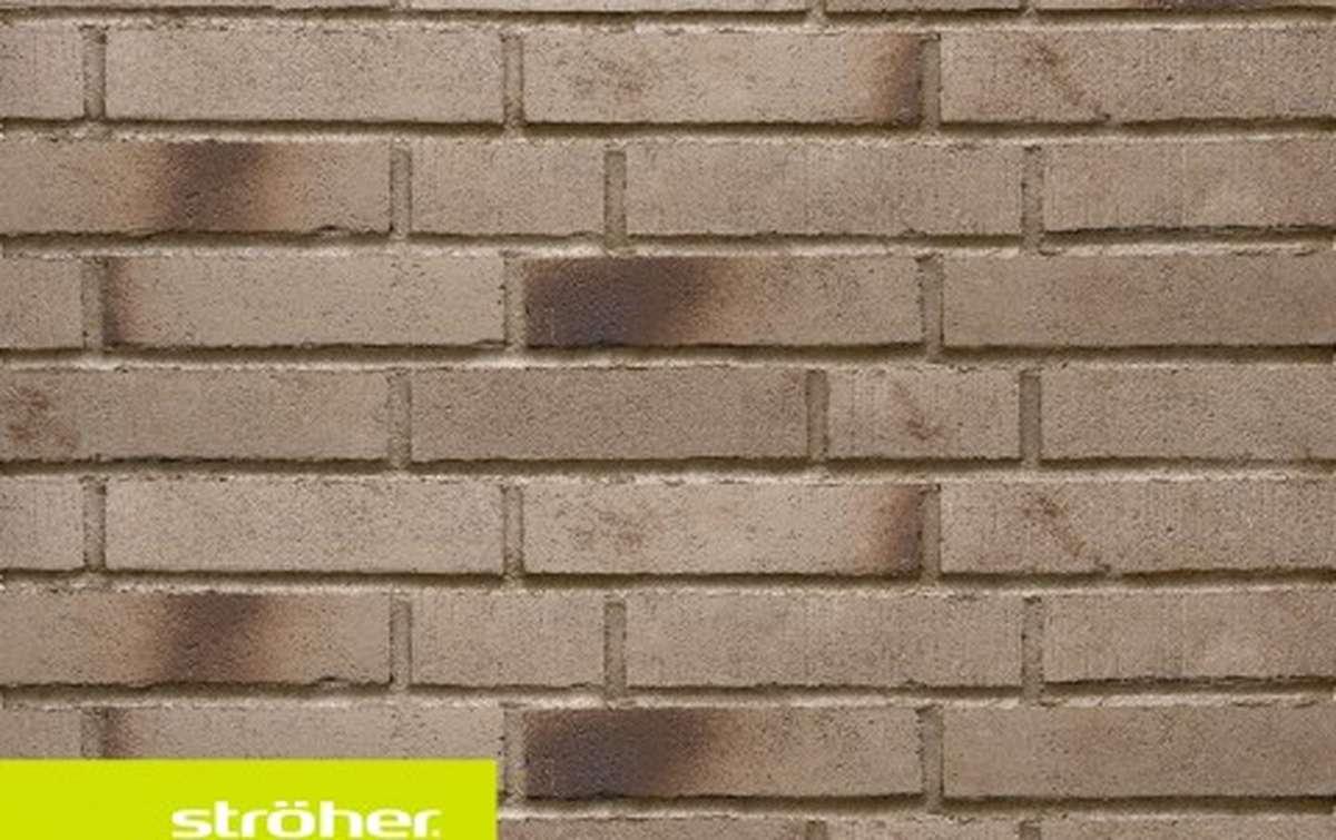 фасадная клинкерная плитка STROEHER eisenasche, размер  240x52x14