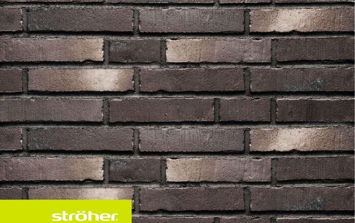 фасадная клинкерная плитка STROEHER schwarzkreide, размер  240x52x14