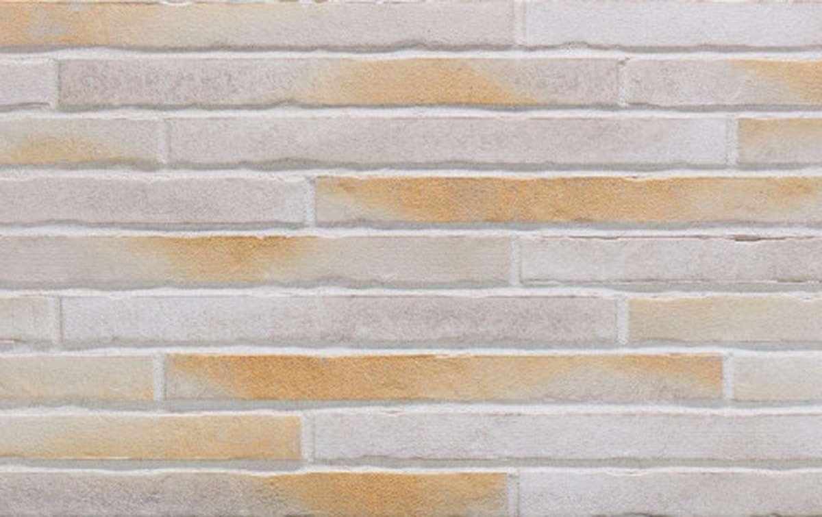 фасадная клинкерная плитка STROEHER 7753 RIEGEL 50 450 gold-wiess, размер 490x40x14