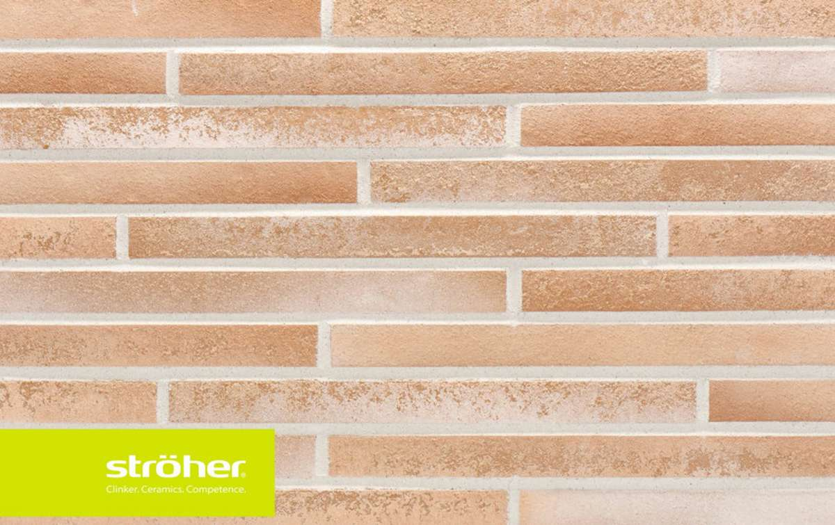 фасадная клинкерная плитка STROEHER creme-weib, размер 440x40x14