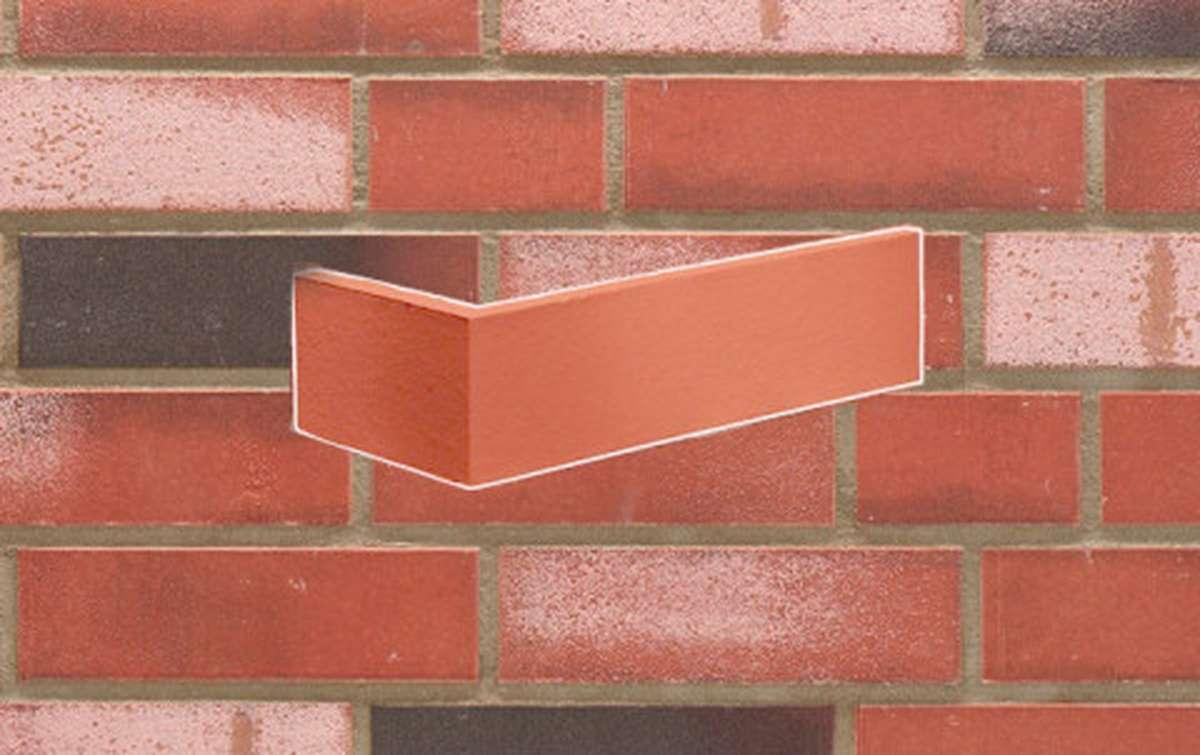 фасадная клинкерная плитка STROEHER 8025 KONTUR WS 494 rot-bunt, размер 240x52x71x12 (угловая)