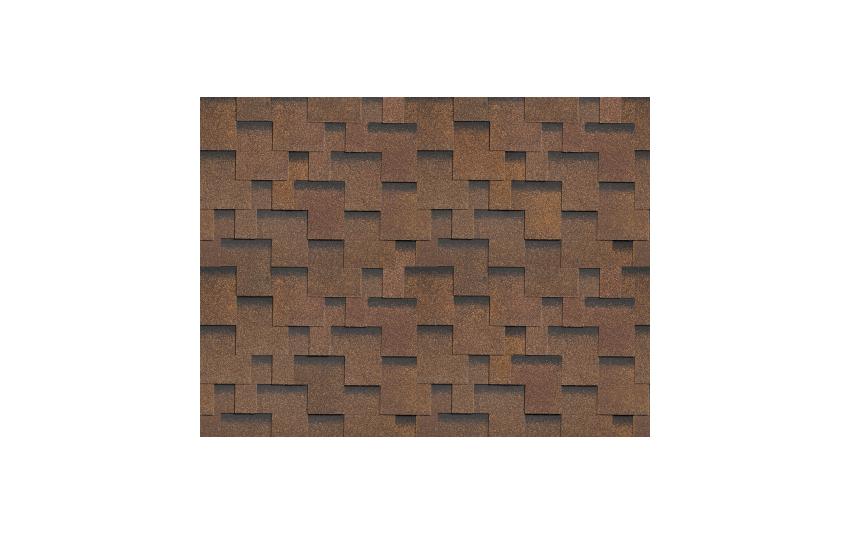 Гибкая черепица SHINGLAS, Фокстрот, Дуб, 3 кв.м