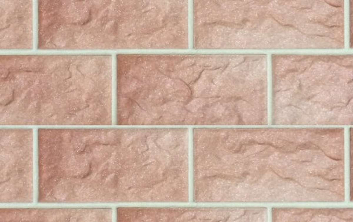 фасадная клинкерная плитка STROEHER rose, размер 302x148x12