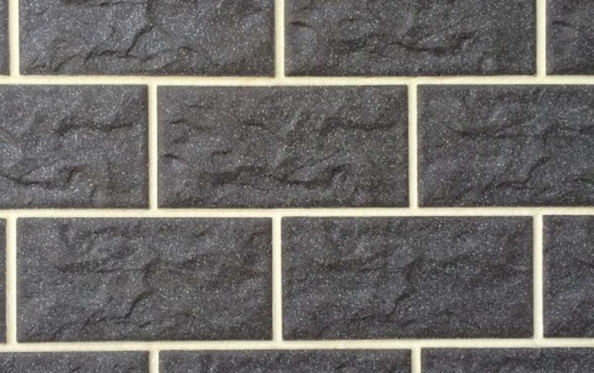 фасадная клинкерная плитка STROEHER antrazit, размер 302x148x12