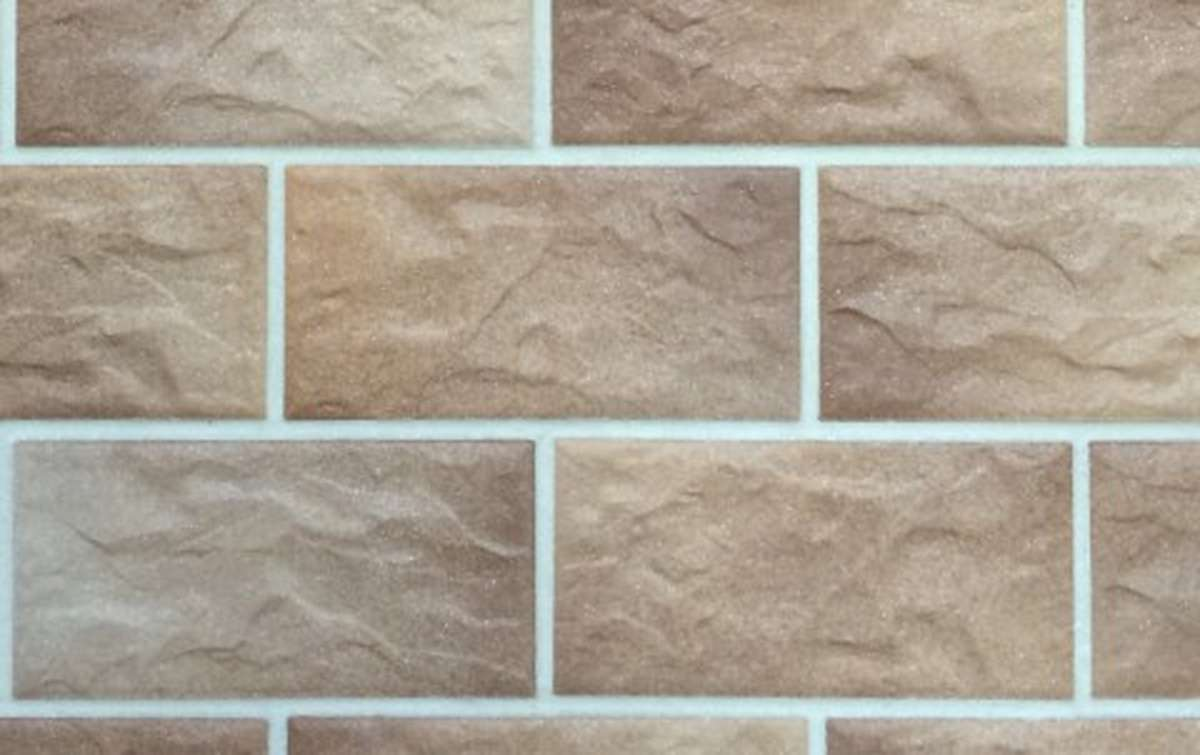 фасадная клинкерная плитка STROEHER braun-bunt, размер 302x148x12