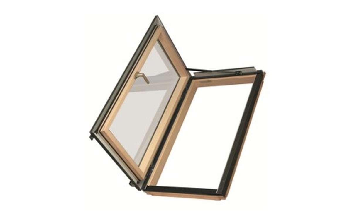 Мансардное окно распашное для отапливаемых помещений FAKRO FWR-U3 (ручка справа)  55x78