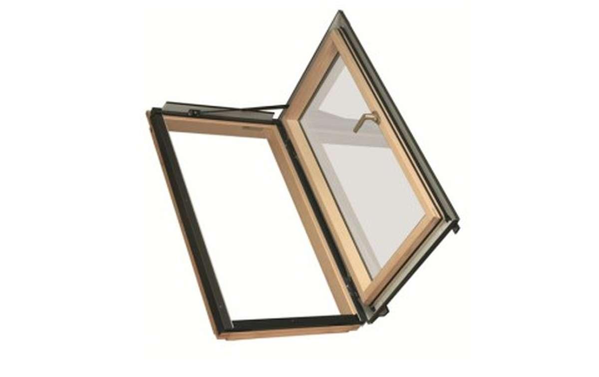 Мансардное окно распашное для отапливаемых помещений FAKRO FWL-U3 (ручка слева) 66x118