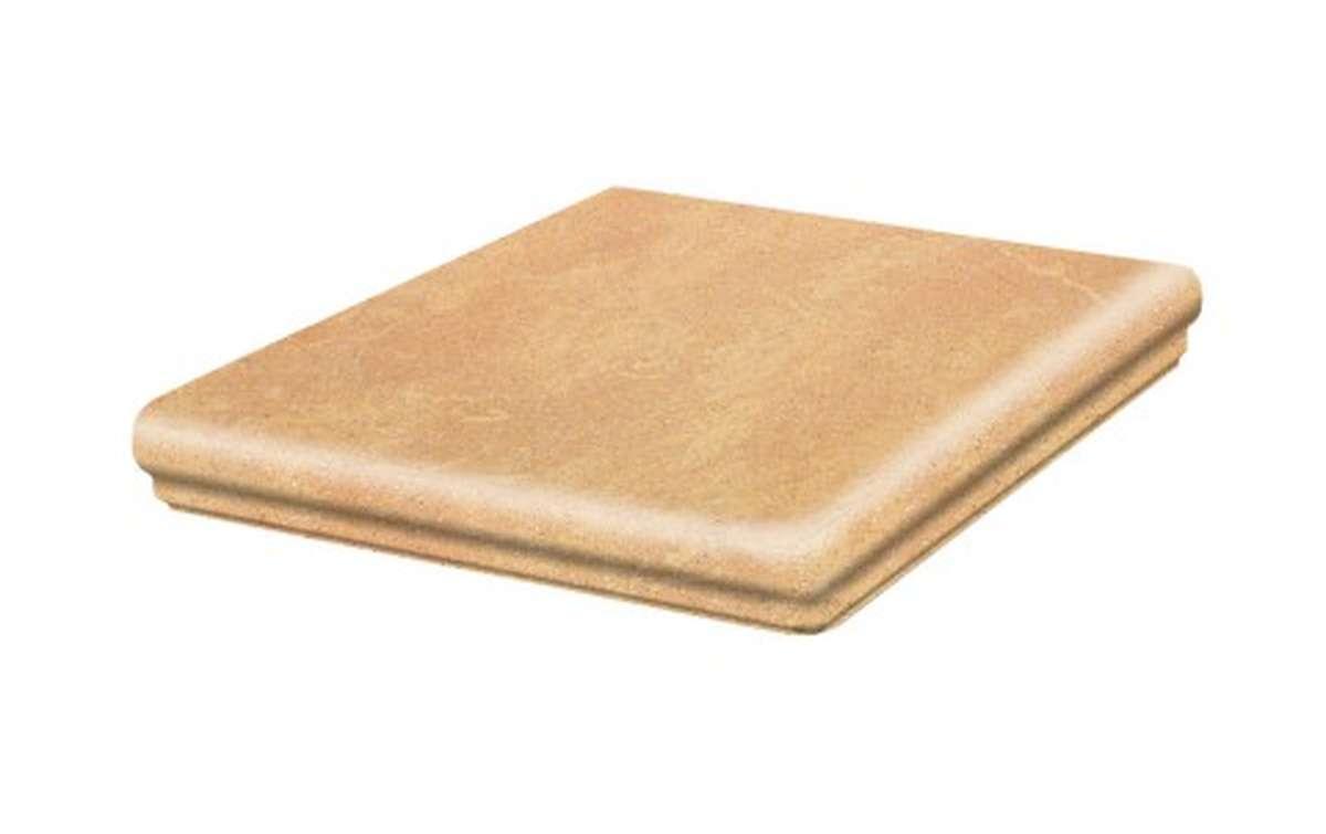 Клинкерные ступени STROEHER, E834 giallo, серия KERAPLATTE ROCCIA, размер 345x345x12