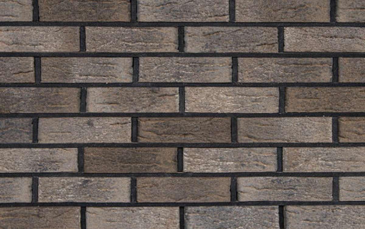 Облицовочный кирпич Faber Jar Оккервильский, коричневый, рифленый, WDF, 215x102x65