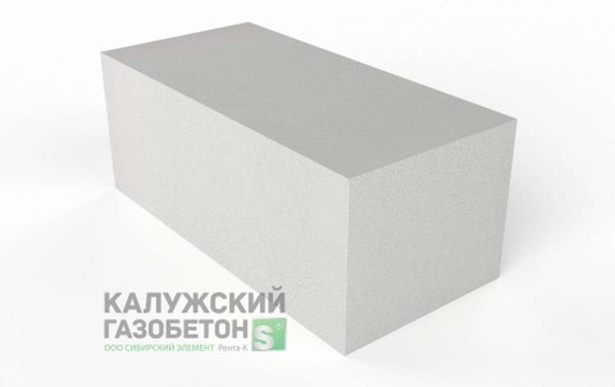 Блок стеновой теплоизоляционно-конструкционный Калужский газобетон D400 625x300x250