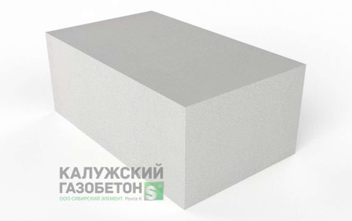 Блок стеновой теплоизоляционно-конструкционный Калужский газобетон D500 625x375x250