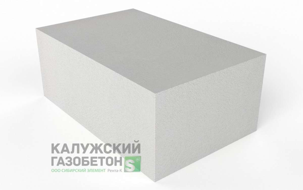 Блок стеновой теплоизоляционно-конструкционный Калужский газобетон D400 625x400x250