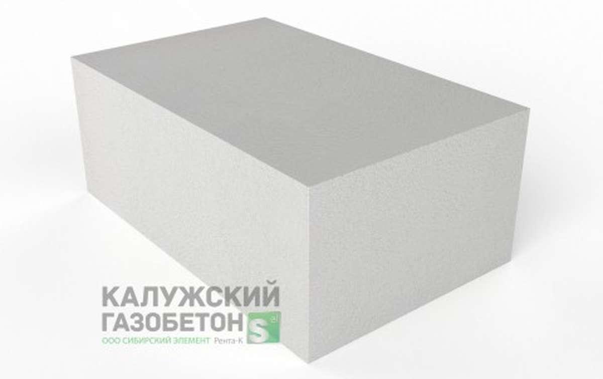 Блок стеновой теплоизоляционно-конструкционный Калужский газобетон D500 625x400x250