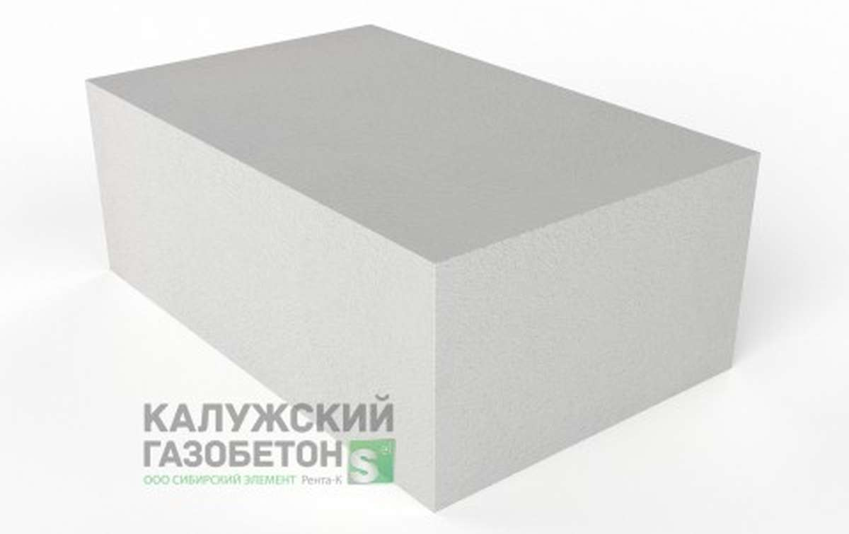 Блок стеновой теплоизоляционно-конструкционный Калужский газобетон D400 625x450x250