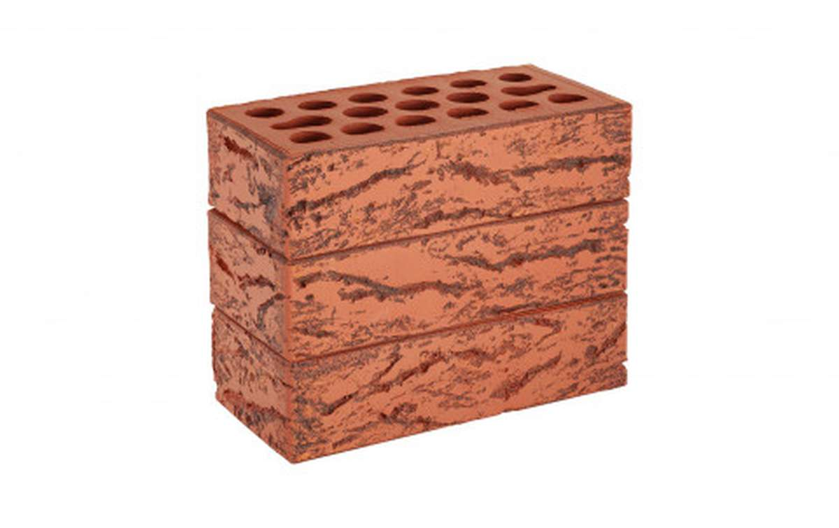 Облицовочный кирпич Керма Lava Hard, рифленый, 250x120x65