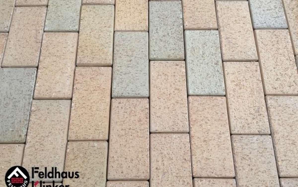 Тротуарная клинкерная плитка Фельдхаус Клинкер P203KF areno trigo 200x100