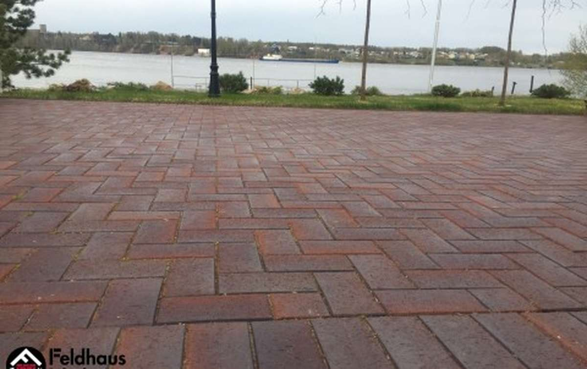 Тротуарная клинкерная плитка Фельдхаус Клинкер P409DF gala ferrum 240x118