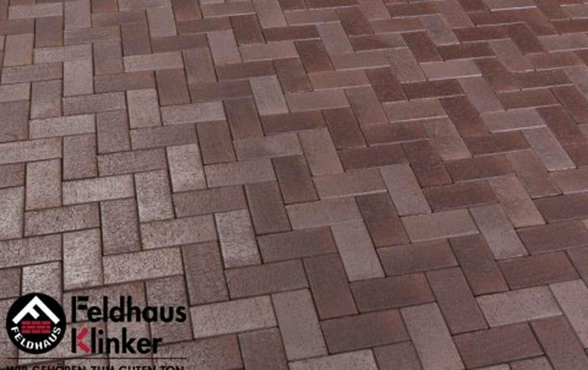 Тротуарная клинкерная плитка Фельдхаус Клинкер P409SKF gala ferrum 200x100
