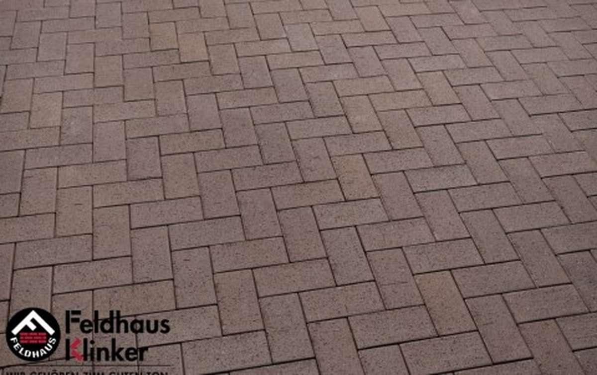 Тротуарная клинкерная плитка Фельдхаус Клинкер P502DF umbra plano 240x118