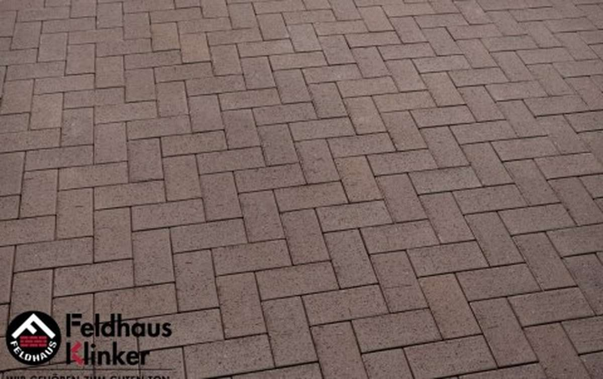Тротуарная клинкерная плитка Фельдхаус Клинкер P502SKF umbra plano 200x100