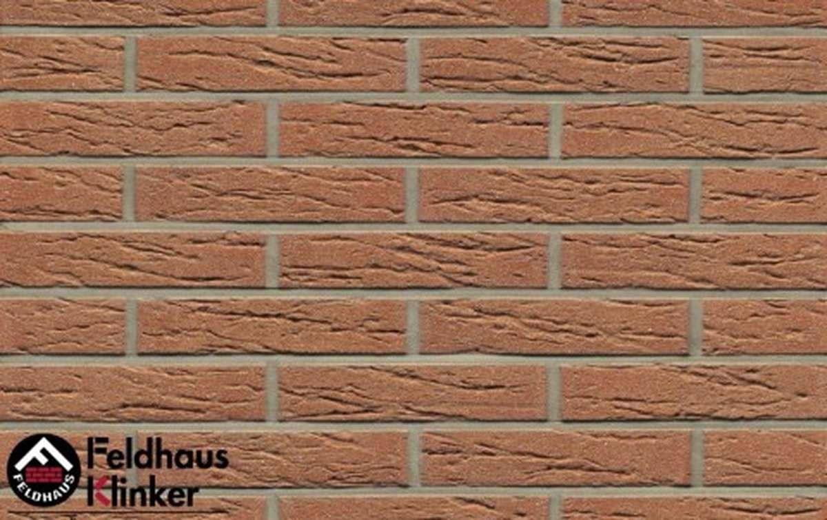 клинкерная плитка для фасада feldhaus klinker r214df9 bronze mana 240x9x52