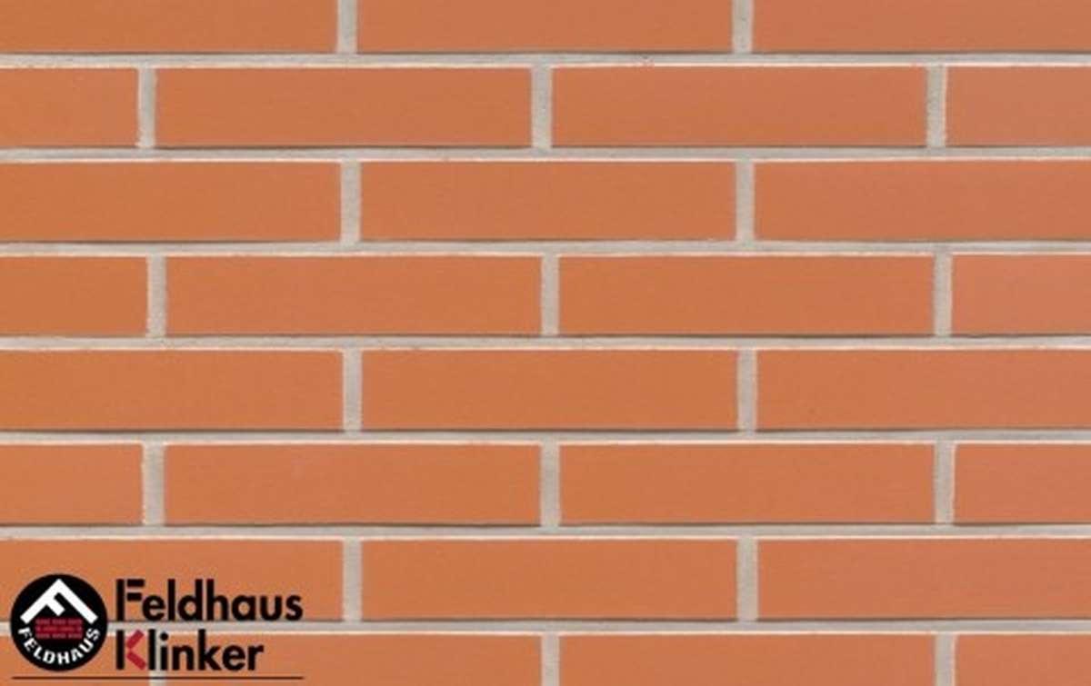 клинкерная плитка для фасада feldhaus klinker r220df9 terracotta liso 240x9x52