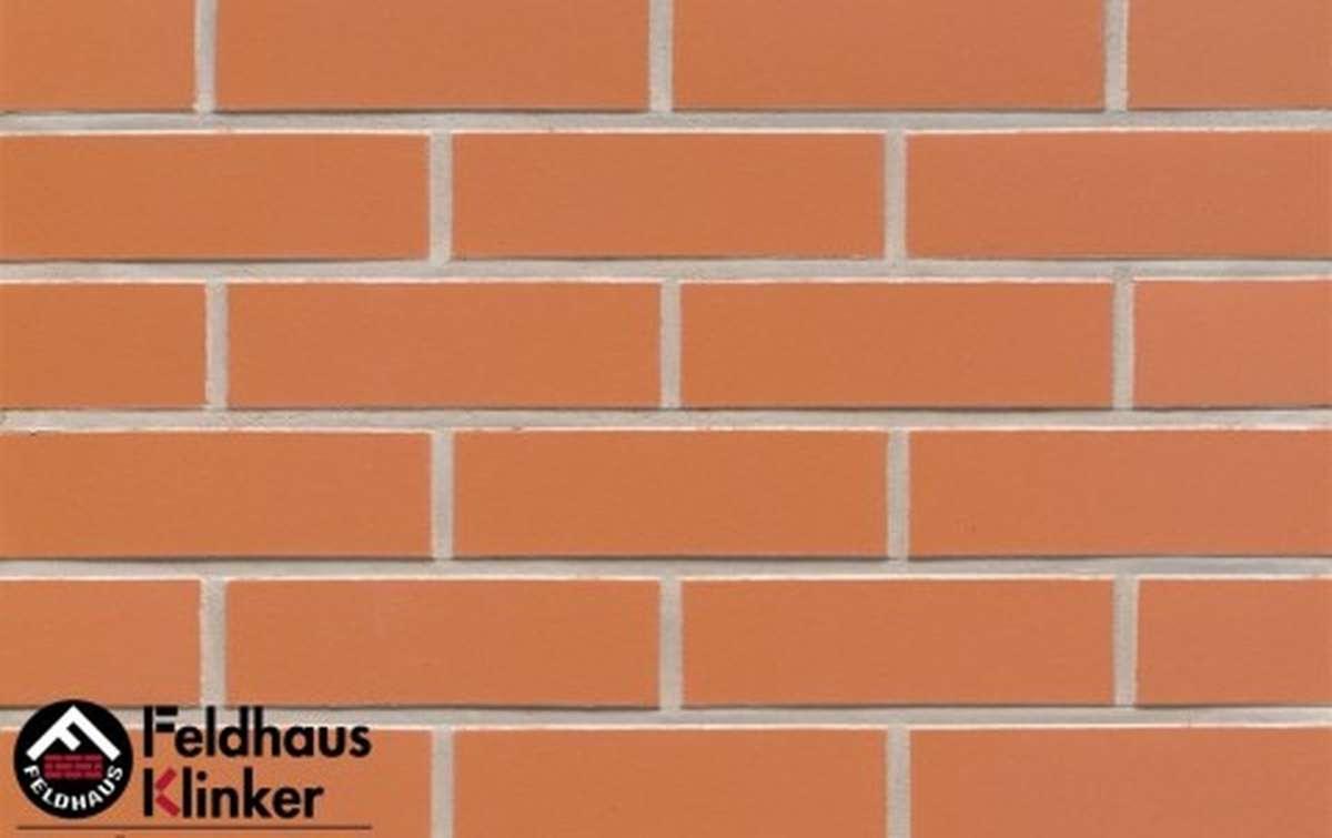 клинкерная плитка для фасада feldhaus klinker r220nf9 terracotta liso 240x9x71