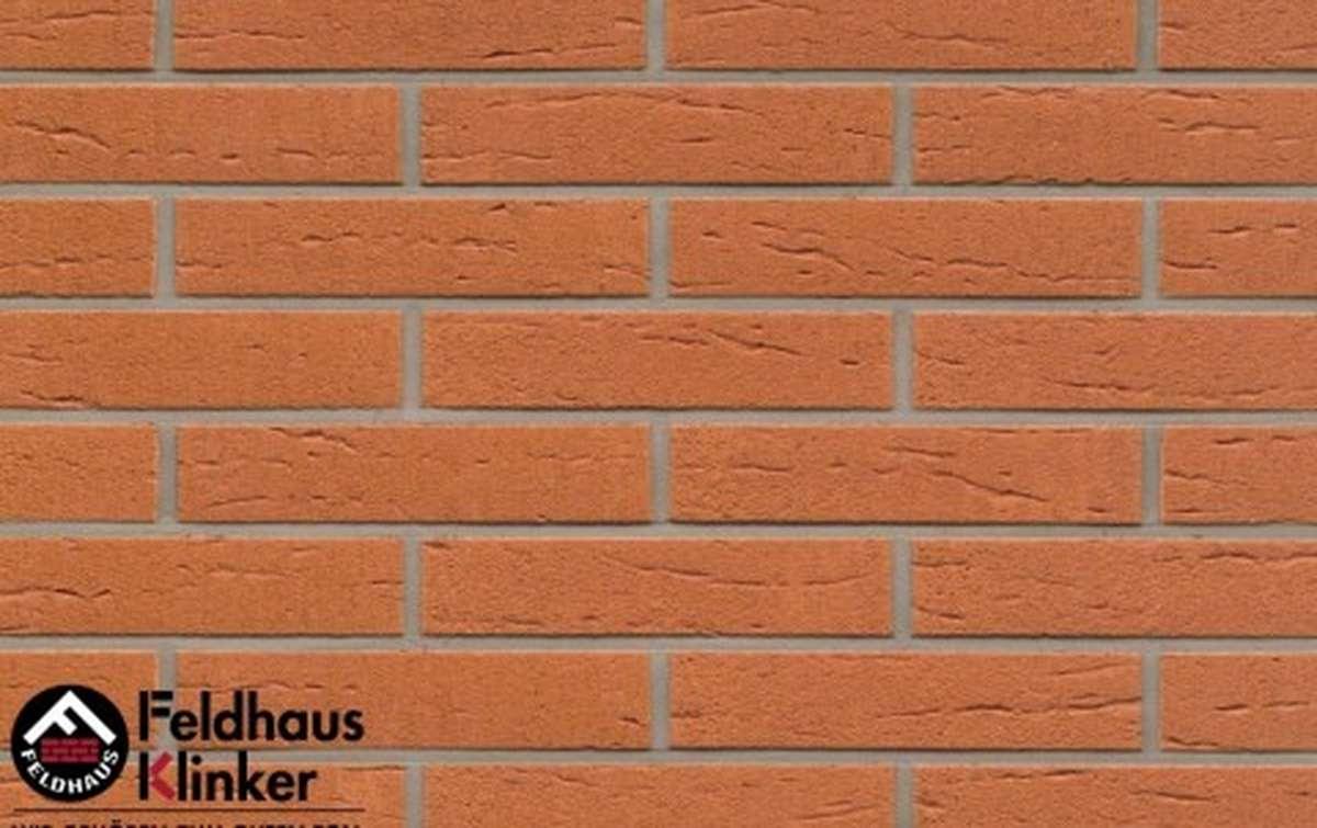 клинкерная плитка для фасада feldhaus klinker r227df9 terracotta rustico 240x9x52