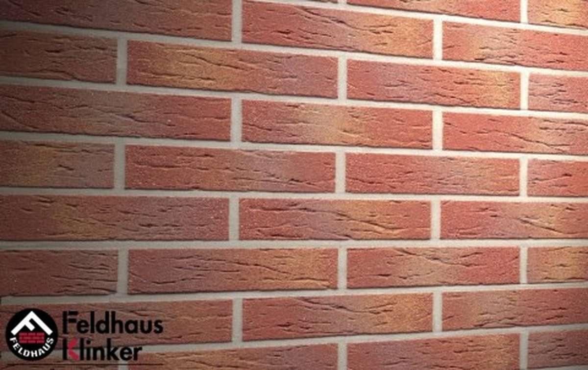 клинкерная плитка для фасада feldhaus klinker r332df9 carmesi multi 240x9x52
