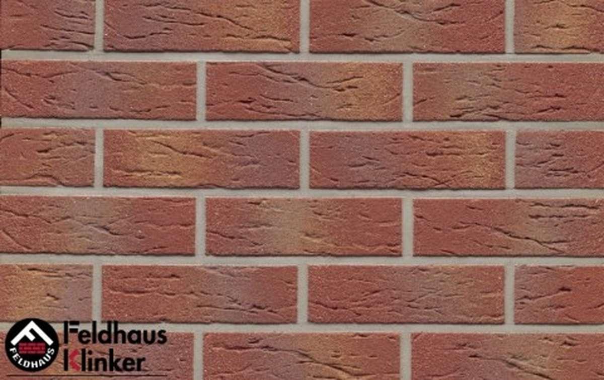 клинкерная плитка для фасада feldhaus klinker r332nf9 carmesi multi 240x9x71