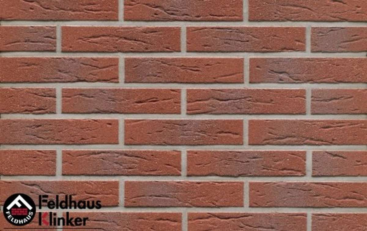 клинкерная плитка для фасада feldhaus klinker r335df9 carmesi multi 240x9x52