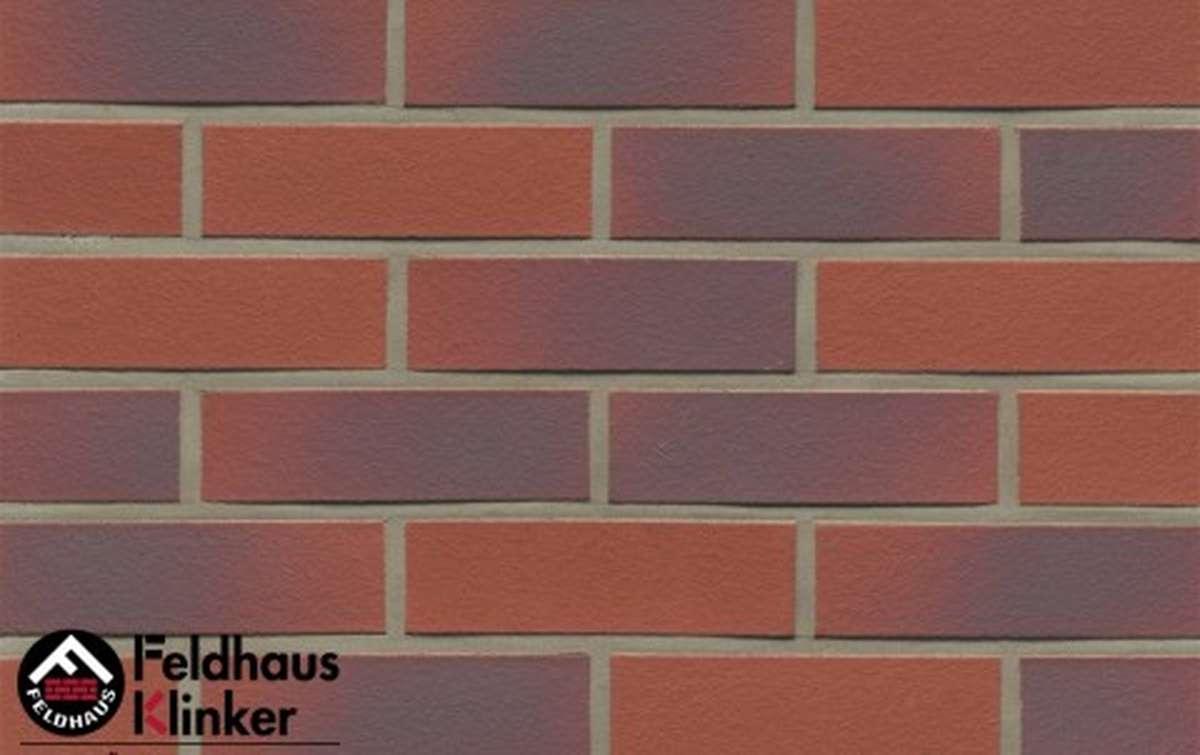 клинкерная плитка для фасада feldhaus klinker r356nf9 carmesi antic liso 240x9x71