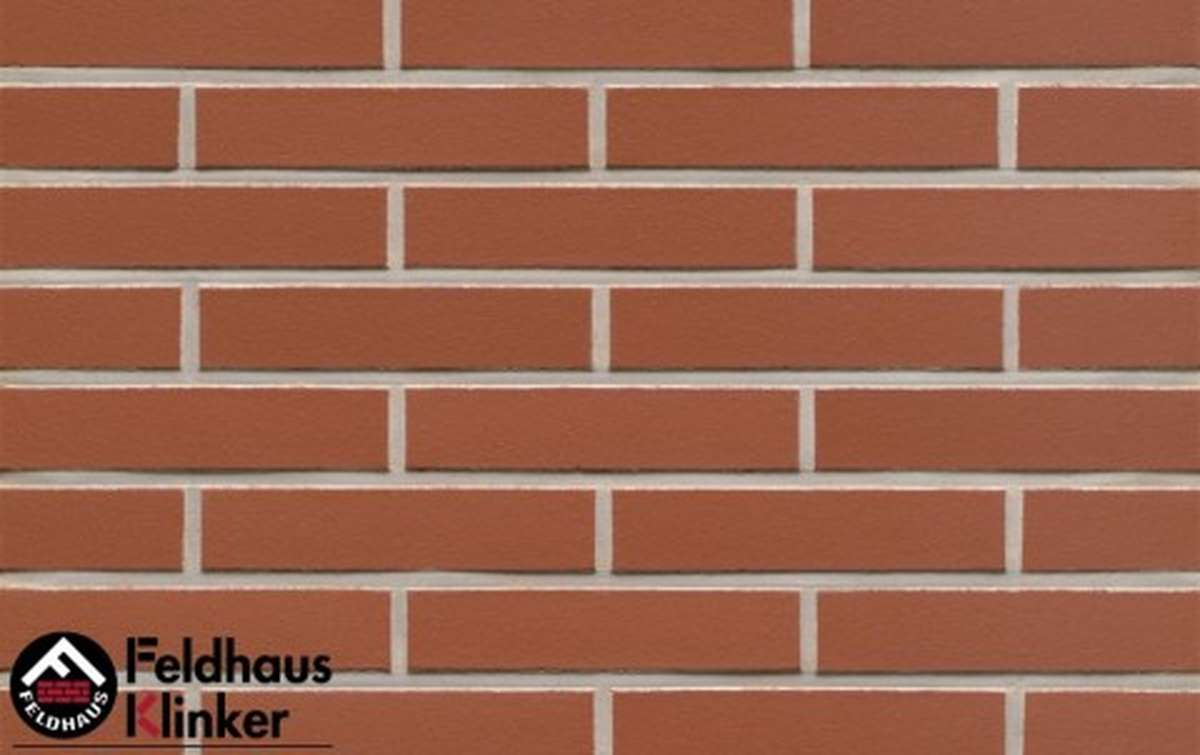 клинкерная плитка для фасада feldhaus klinker r400df9 carmesi liso 240x9x52