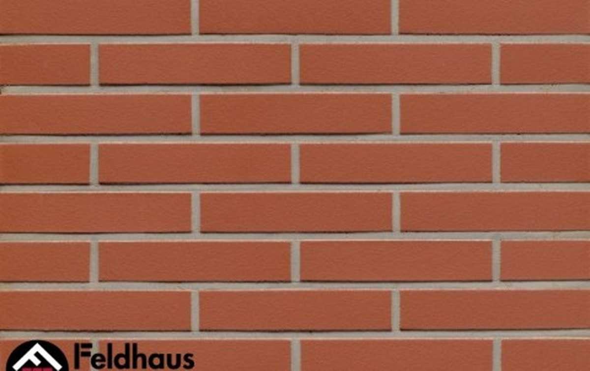 клинкерная плитка для фасада feldhaus klinker r400ldf14 carmesi liso 290x52x14