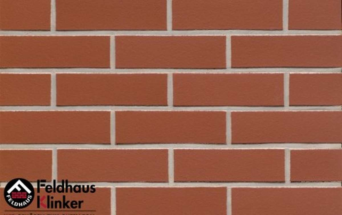 клинкерная плитка для фасада feldhaus klinker r400nf14 carmesi liso 240x14x71