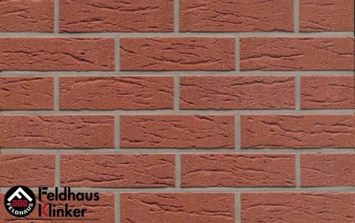 клинкерная плитка для фасада feldhaus klinker r435nf9 carmesi mana 240x9x71
