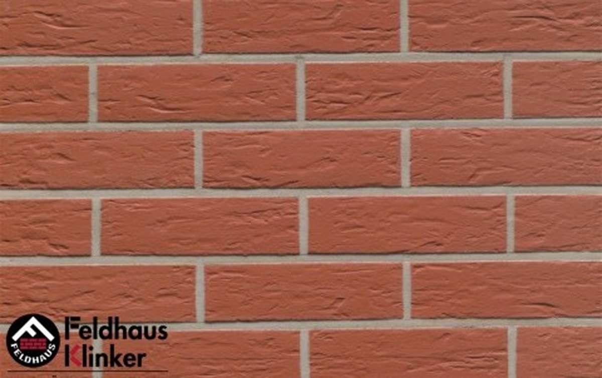 клинкерная плитка для фасада feldhaus klinker r440nf9 carmesi senso 240x9x71
