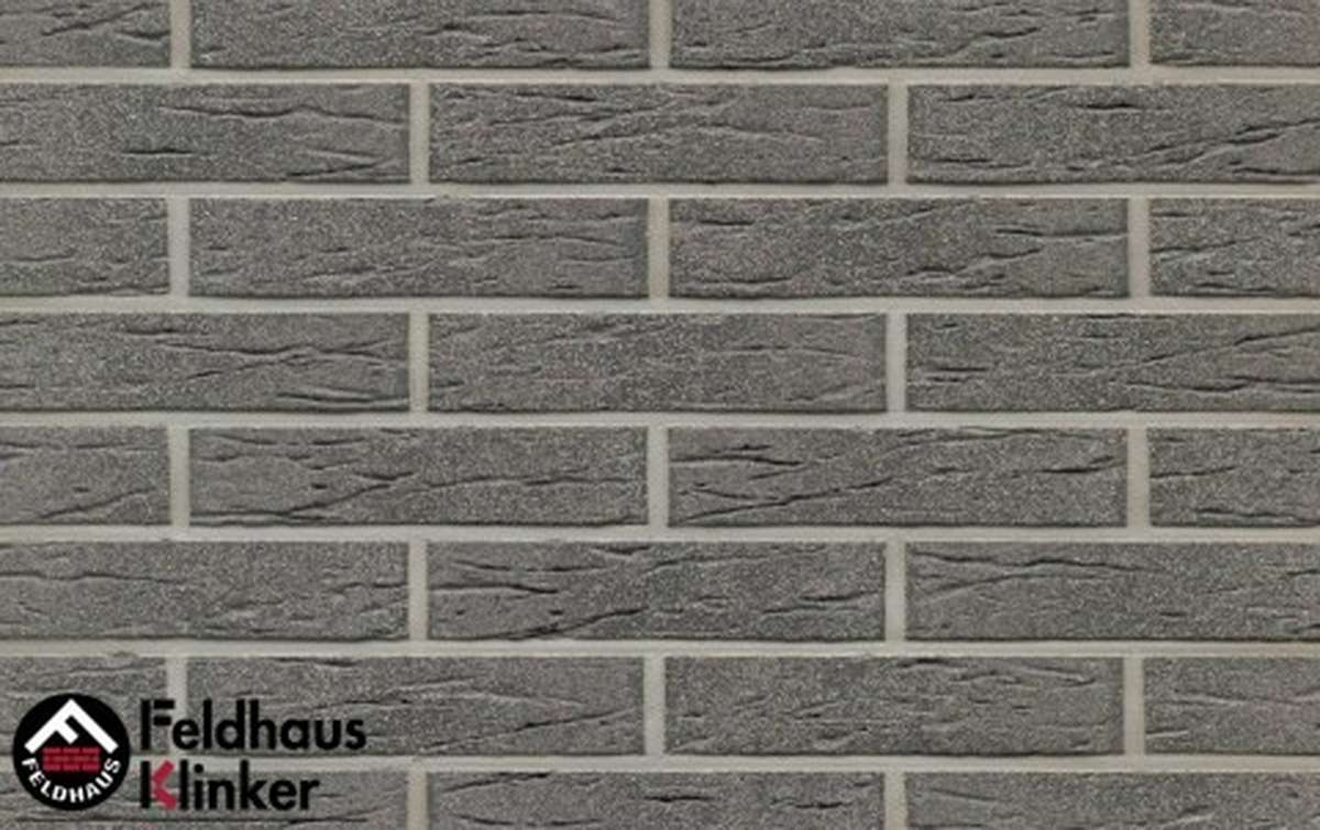 клинкерная плитка для фасада feldhaus klinker anthracit mana r735df9 240x9x52