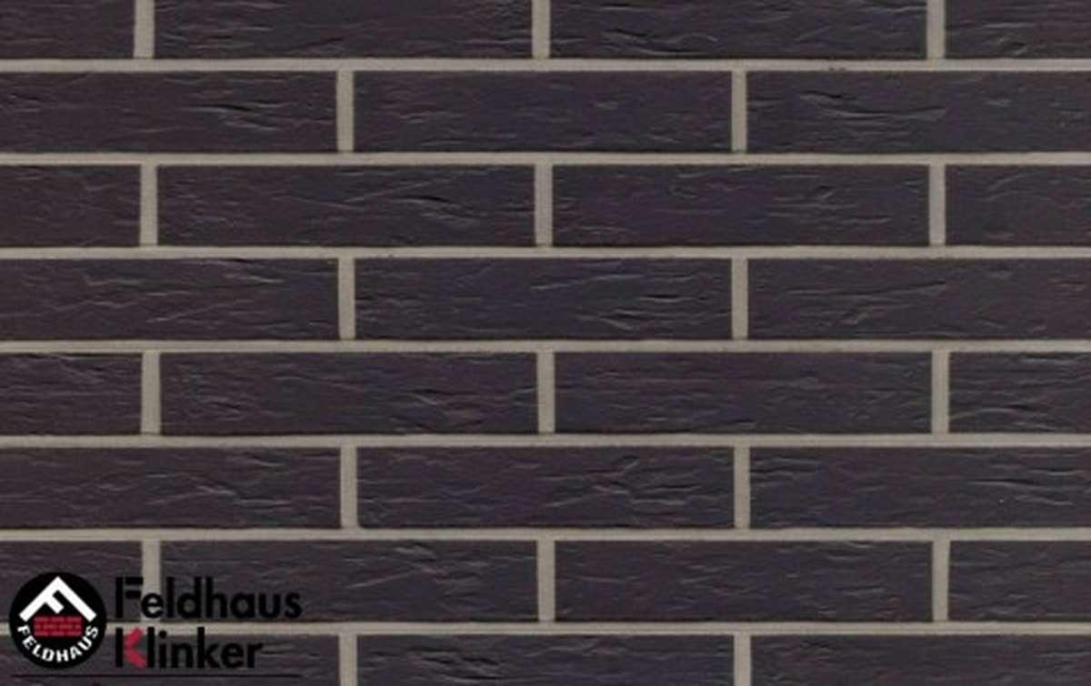 клинкерная плитка для фасада feldhaus klinker anthracit mana r740df9 240x9x52
