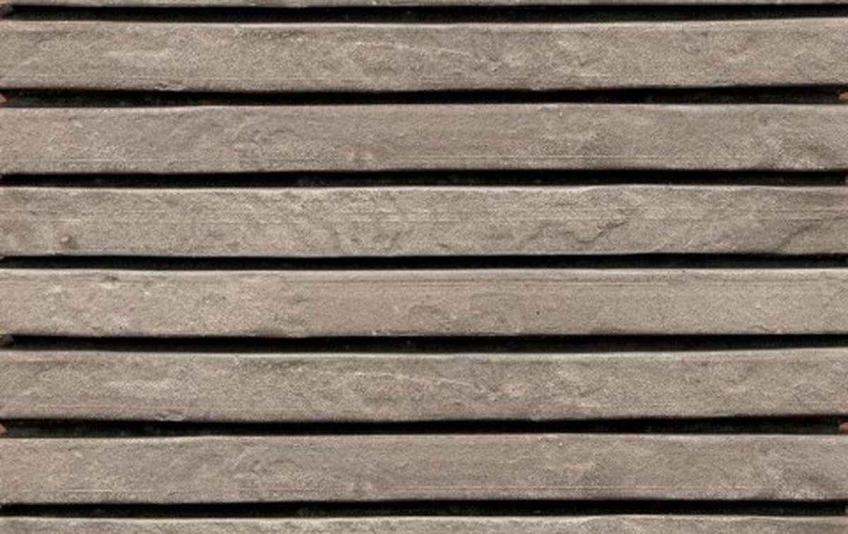 фасадная плитка ригельформат БКЗ, Нарва, серый, 257x100x38